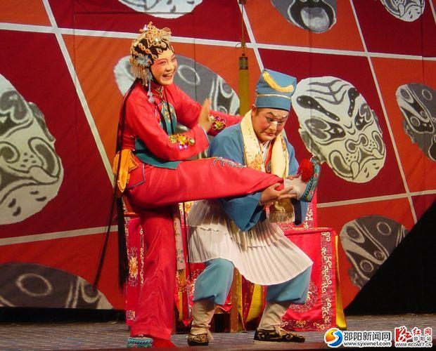 2006年花鼓戏《磨豆腐》  邵阳市花鼓戏剧团提供