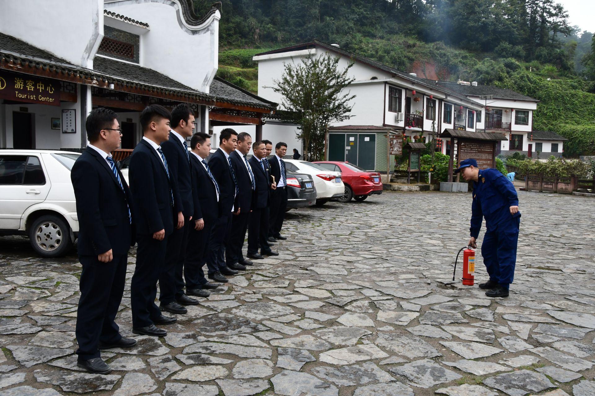 崀山5A景区国庆节前消防检查不走形式
