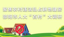 """聚焦农村违法乱占耕地建房 邵阳市人大""""百村""""大调研"""