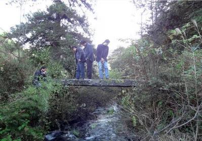 清代石板桥遗址现身南山国家公园