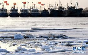 天津:冰封渔码头
